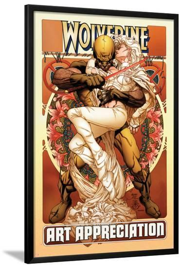 Wolverine Art Appreciation One-Shot Canvas Cover Cover: Wolverine and Emma Frost-Joe Quesada-Lamina Framed Poster
