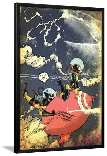 Wolverine First Class No.19 Cover: Wolverine and Shadowcat-Skottie Young-Lamina Framed Poster