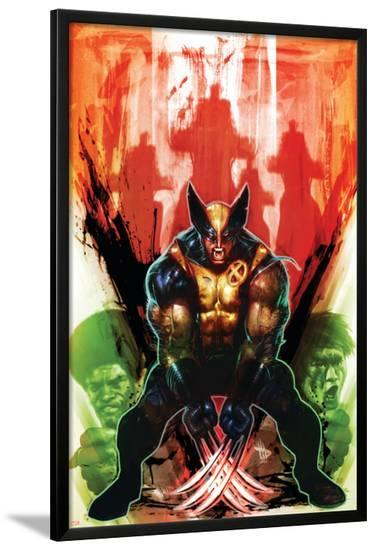 Wolverine: Manifest Destiny #4 Cover Featuring Wolverine-Dave Wilkins-Lamina Framed Poster