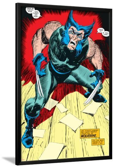 Wolverine No.1 Cover: Wolverine-John Buscema-Lamina Framed Poster