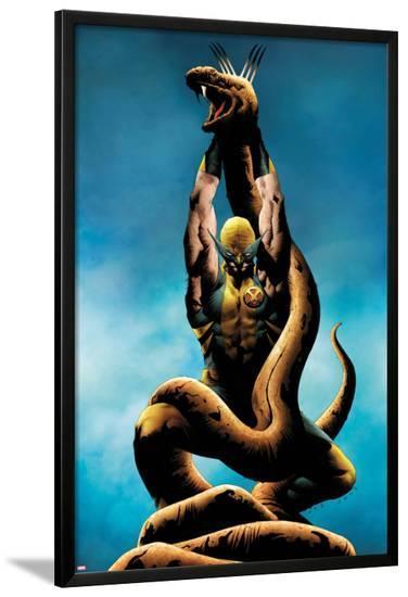 Wolverine No.12 Cover: Wolverine Lifting-Jae Lee-Lamina Framed Poster