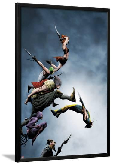 Wolverine No.13 Cover: Wolverine Fighting-Jae Lee-Lamina Framed Poster