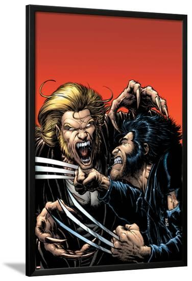 Wolverine No.15 Cover: Wolverine and Sabretooth-Darick Robertson-Lamina Framed Poster