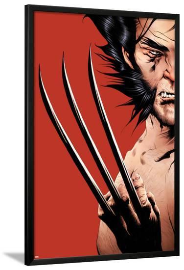 Wolverine No.16 Cover: Wolverine-Jae Lee-Lamina Framed Poster