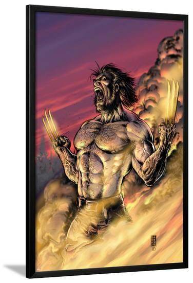 Wolverine No.17 Cover: Wolverine-Darick Robertson-Lamina Framed Poster