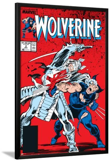 Wolverine No.2 Cover: Wolverine and Silver Samurai-John Buscema-Lamina Framed Poster