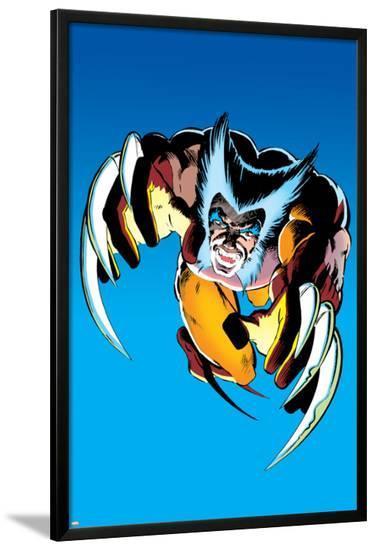 Wolverine No.2 Cover: Wolverine Fighting-Frank Miller-Lamina Framed Poster