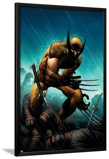 Wolverine No.20 Cover: Wolverine-John Romita Jr^-Lamina Framed Poster