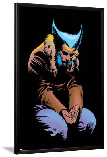 Wolverine No.3 Cover: Wolverine and Logan Flying-Frank Miller-Lamina Framed Poster