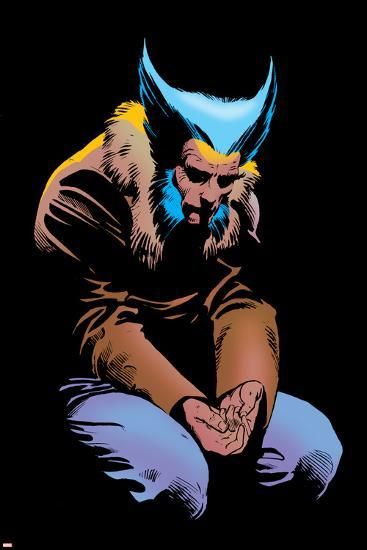 Wolverine No.3 Cover: Wolverine and Logan Flying-Frank Miller-Poster