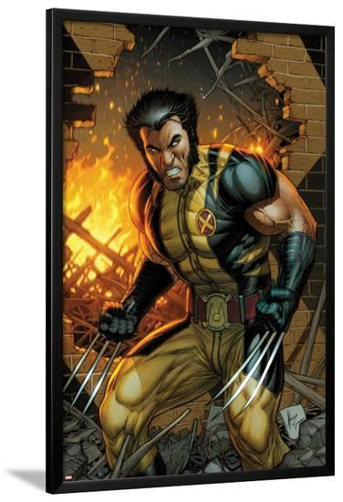 Wolverine No.304 Cover: Wolverine Standing-Dale Keown-Lamina Framed Poster