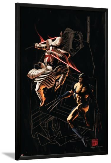 Wolverine No.37 Cover: Wolverine and Silver Samurai-Kaare Andrews-Lamina Framed Poster
