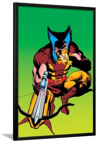 Wolverine No.4 Cover: Wolverine Crouching-Frank Miller-Lamina Framed Poster