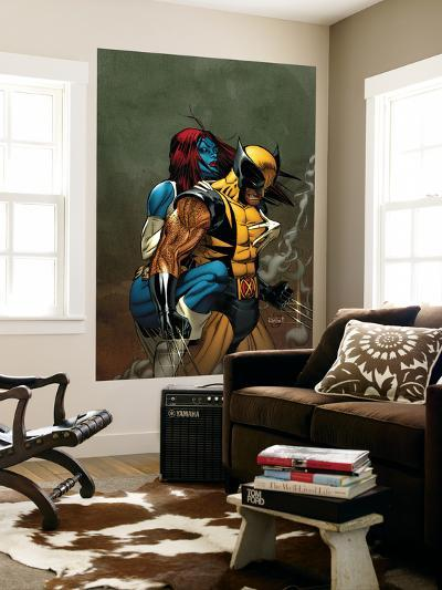 Wolverine No.62 Cover: Wolverine and Mystique-Ron Garney-Wall Mural