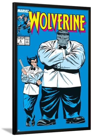 Wolverine No.8 Cover: Wolverine and Hulk-Rob Liefeld-Lamina Framed Poster