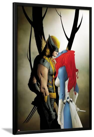 Wolverine No.9 Cover: Wolverine and Mystique Kissing-Jae Lee-Lamina Framed Poster