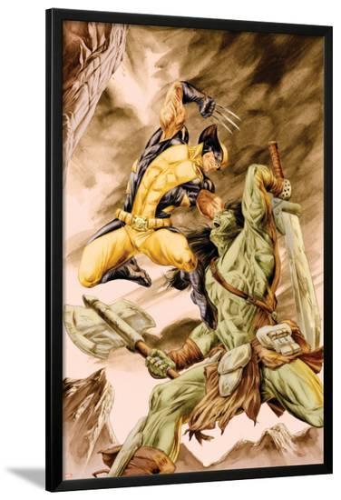 Wolverine Origins No.41 Cover: Wolverine and Skaar-Doug Braithwaite-Lamina Framed Poster