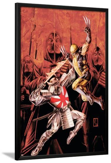 Wolverine Origins No.43 Cover: Wolverine and Silver Samurai-Doug Braithwaite-Lamina Framed Poster