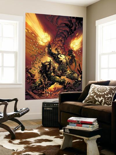 Wolverine Punisher No.1 Cover: Wolverine and Punisher-Mike Deodato-Wall Mural
