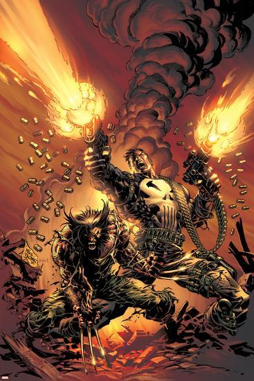 Wolverine Punisher No.1 Cover: Wolverine and Punisher-Mike Deodato-Poster