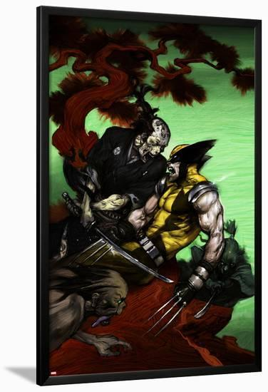 Wolverine: Soultaker No.3 Cover: Zombie and Wolverine--Lamina Framed Poster