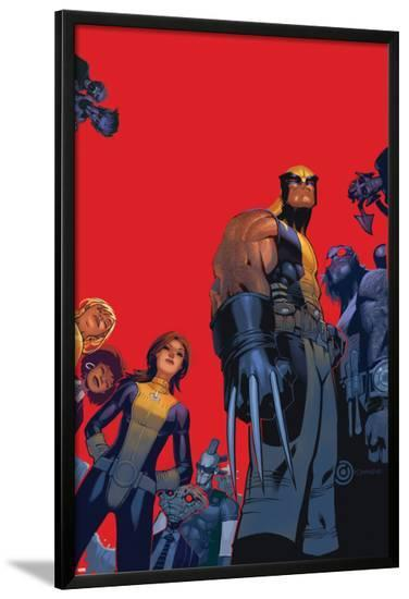 Wolverine & The X-Men No.1 Cover: Wolverine, Kitty Pryde, Beast-Chris Bachalo-Lamina Framed Poster