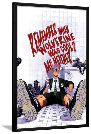 Wolverine & The X-Men No.3 Cover: Quentin Quire Sitting in the Bathroom-Chris Bachalo-Lamina Framed Poster