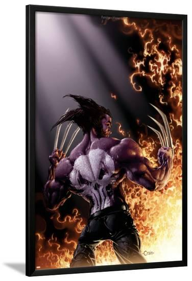 Wolverine vs. Punisher No.4 Cover: Wolverine--Lamina Framed Poster