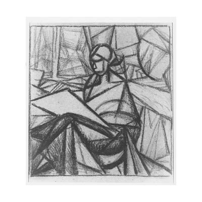 Woman, 1914-15-Alexander Bogomazov-Giclee Print