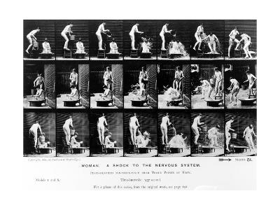 Woman. a Shock to the Nervous System, 1887, Illustration from 'The Human Figure in Motion' by…-Eadweard Muybridge-Photographic Print