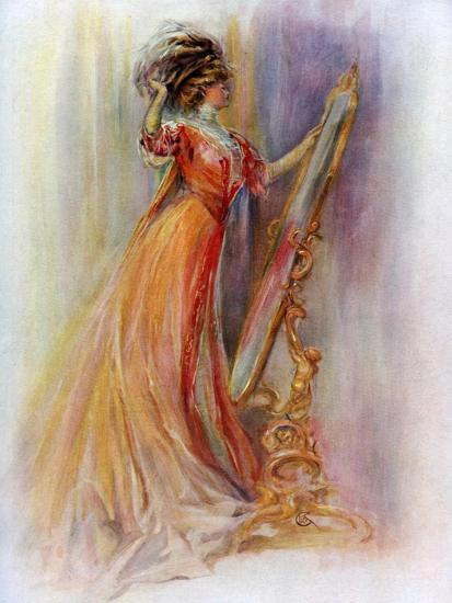 Woman Admiring Herself in a Mirror, 1908-1909- Hubner & Wilson-Giclee Print