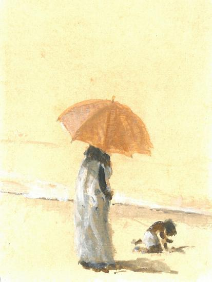 Woman and Child on Beach, 2015-Lincoln Seligman-Giclee Print