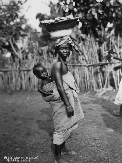 Woman and Child, Sierra Leone, 20th Century--Photographic Print