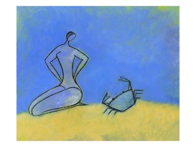 Woman and Crab-Marie Bertrand-Giclee Print