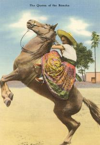 Woman and Horse, Queen of the Rancho