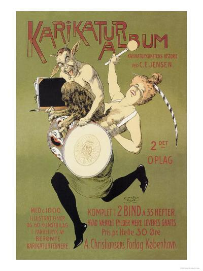 Woman and Pan with Drum-Carsten Ravn-Art Print