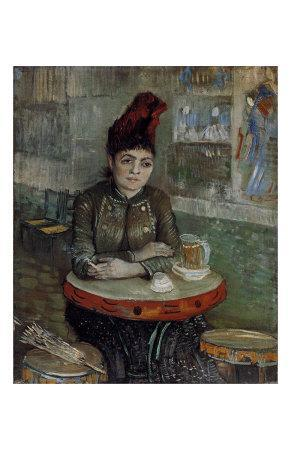 Woman at a Table in the Cafe du Tambourin-Vincent van Gogh-Art Print