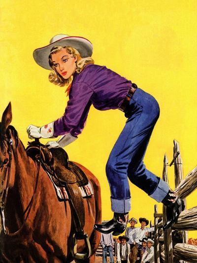 """""""Woman at Dude Rance,"""" June 20, 1942-Fred Ludekens-Giclee Print"""