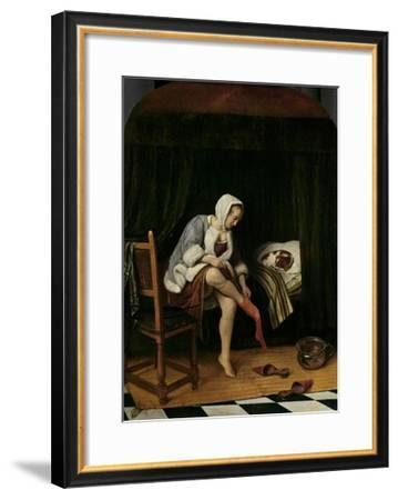 Woman at Her Toilet, 1655-60-Jan Steen-Framed Giclee Print