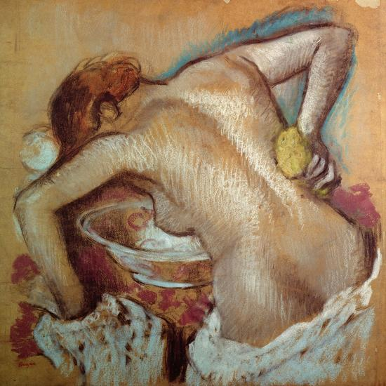 Woman at Her Toilet, C.1894 (Pastel)-Edgar Degas-Giclee Print