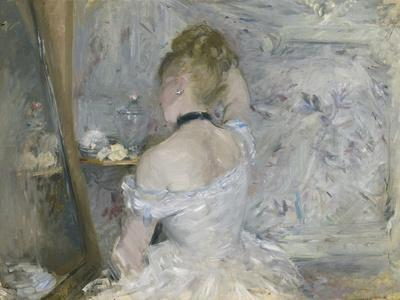 Summer Young woman at the window by Berthe Morisot Giclee Repro on Canvas