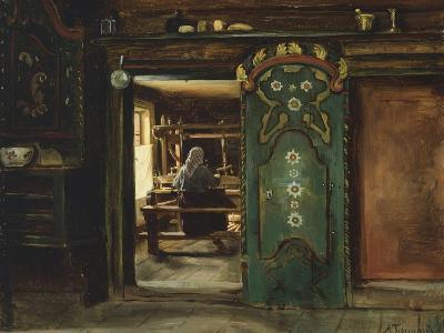 Woman at Loom, 1874-Adolph Tidemand-Giclee Print