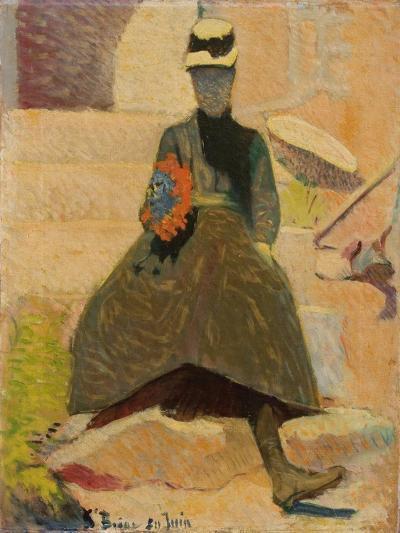 Woman at Saint-Briac, 1886-Emile Bernard-Giclee Print