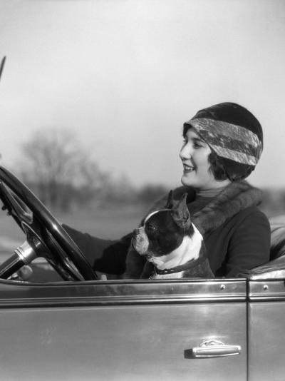 Woman at Steering Wheel Driving Car-H^ Armstrong Roberts-Photographic Print