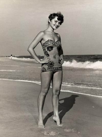 Woman at the Beach-George Marks-Photographic Print