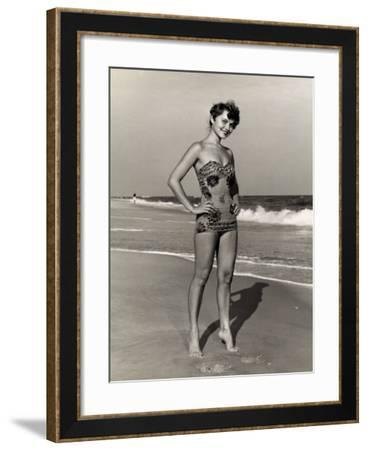 Woman at the Beach-George Marks-Framed Photographic Print