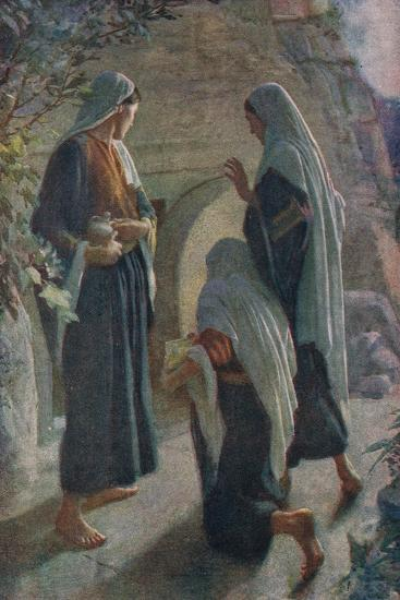 Woman at the Sepulchre-Harold Copping-Giclee Print