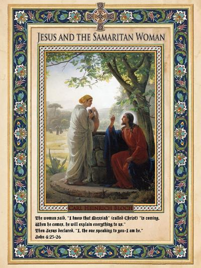 Woman at the Well: Jesus and the Samaritan Woman-Carl Bloch-Giclee Print