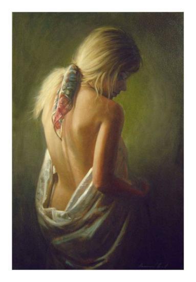 Woman Back I-Emanuel Garant-Art Print