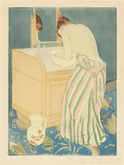Woman Bathing, 1890-1-Mary Cassatt-Giclee Print